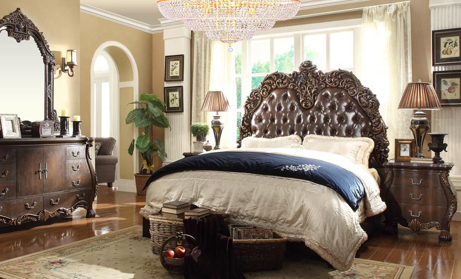 Hd 5800 bedroom set wholesale unique furniture for Exotic king size bedroom sets